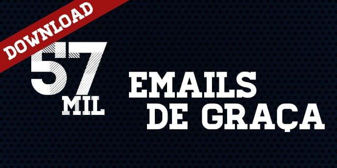 Lista Gratuita – 57 mil emails de pessoas grátis para suas campanhas