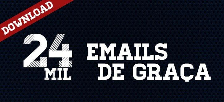 Lista de emails grátis – 24mil contatos