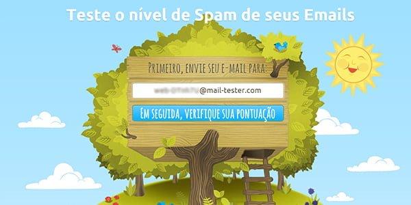 Tela Inicial do Sistema Mail-Tester