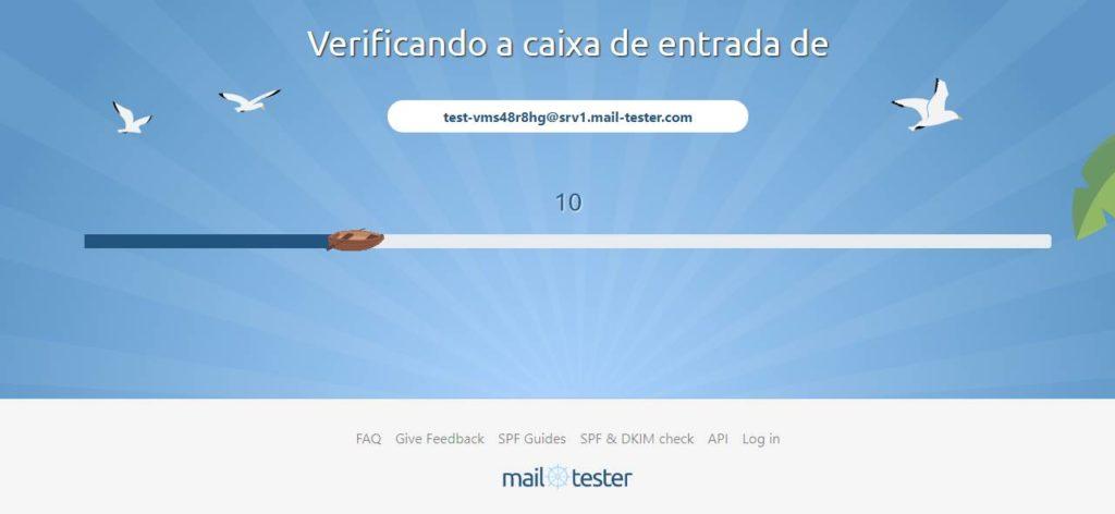 Verificando o recebimento dos e-mails